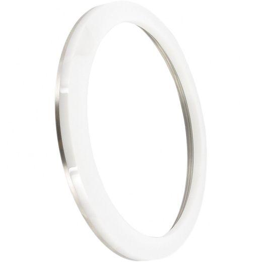 Marc Coblen MCB50SCWHITE Lünette 50mm Keramik Weiß Edelstahlrand günstig kaufen