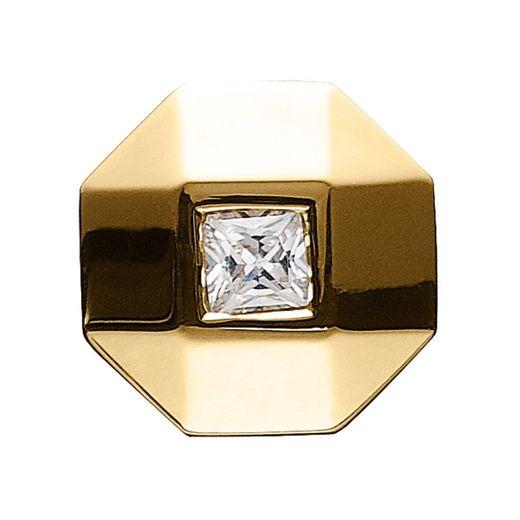 Story Charme Ring Knopf Zirkonia Silber vergoldet 5208127 günstig kaufen
