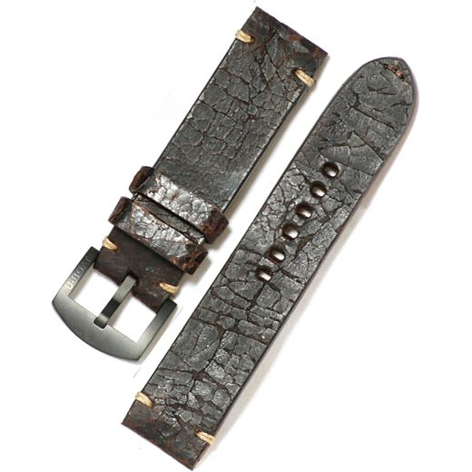 U-Boat Vintage Strap 6991 dark bronw calf leather K010 23/22