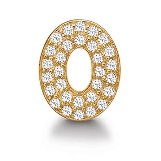 Story Schmuck Charm 5208199 Sterlingsilber vergoldet Knopf oval Zirkonia günstig online bestellen
