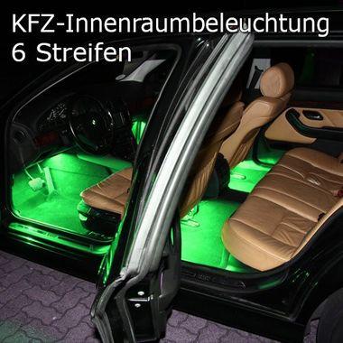 6er Set RGB LED KFZ Fussraumbeleuchtung Innenraumbeleuchtung