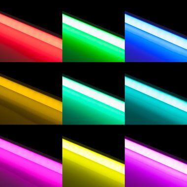 90cm LED RGB Aluminium Röhre mit 10 Tasten Fernbedienung ALU – Bild 2