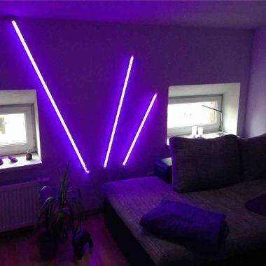 150cm LED RGB Aluminium Röhre mit 10 Tasten Fernbedienung ALU – Bild 5
