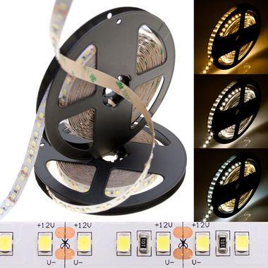 PREMIUM 5m Rolle 14.400lm 12V weiß IP20 sehr helle SMD 2835 LED Streifen 120LEDs/m selbstklebend dimmbar – Bild 1