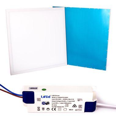 Taloya® 36W LED Panel 5 Jahre Garantie warm-weiß 3000K 62x62cm Rahmen weiß 100lm/W 83Ra – Bild 1