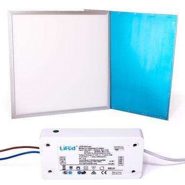 Taloya® 36W LED Deckenpanel 4000K dimmbar neutralweiß 80lm/W Rahmen silber 62x62cm Ra80 Panel