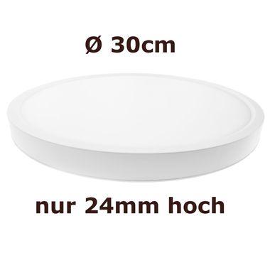 Taloya® Moonlight dimmbar weiß 3000K - 6000K 24 Watt Ø 40cm extra helle runde LED Deckenlampe Wandlampe | 1920 Lumen | 120° Abstrahlwinkel – Bild 2