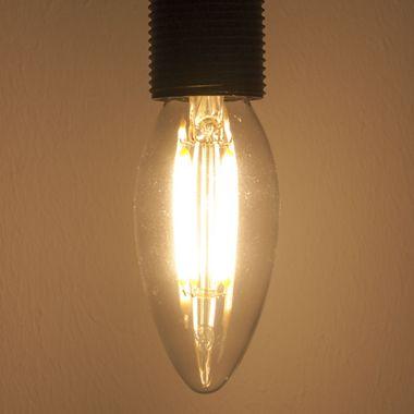 Taloya HX-3514 C35 LED E14 Filament Leuchte EEK A+ Retro Classic Kerze ø 35 x 100 mm Lampe Glühbirne Ersatz  – Bild 4