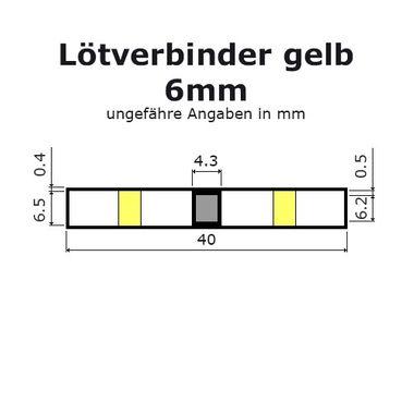 Lötverbinder gelb Ø 6mm Schrumpfverbinder Kabelverbinder Stossverbinder – Bild 4