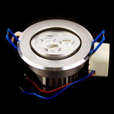 2 3W LED Design Einbauleuchte rund 3 PowerLed wie 40W Halogen Spot Downlight