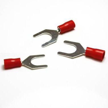 Gabelkabelschuhe / Kabelschuhe M8 rot 0,5-1,5mm²