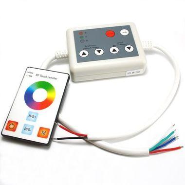 RGB Controller mit flacher Touch Fernbedienung 12V bis 24V für RGB Leisten