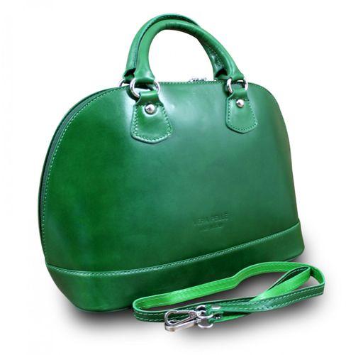 Made In Italy Damentasche Handtasche Henkeltasche Schultertasche Hobo Cube Bag Echt Leder  – Bild 8