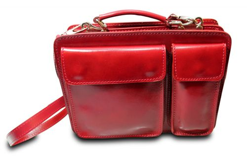 Made in Italy College Bag Messenger I-Pad Tasche Schultertasche Glattleder   – Bild 5