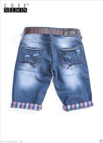 Herren clubwear Jeans Shorts Caprihose Chino Chinohose  kurze Hose... Total HIP!