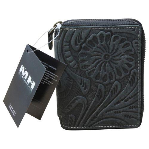 Hill Burry Geldbörse Damen Portemonnaie Premium Büffelleder Used Look Braun  – Bild 5