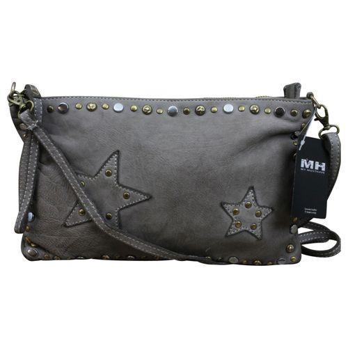 Made in Italy Clutch Cossbody Bag Vintage Used Look Leder  – Bild 2