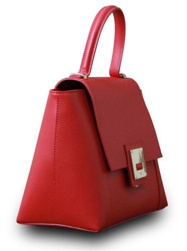 Made in Italy Designer Damen Tasche Henkeltasche Schultertasche Hobo Cube Echt Leder Bag  – Bild 7