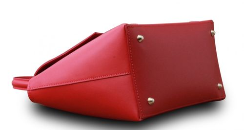 Made in Italy Designer Damen Tasche Henkeltasche Schultertasche Hobo Cube Echt Leder Bag  – Bild 9