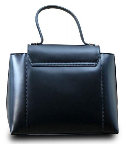 Made in Italy Designer Damen Tasche Henkeltasche Schultertasche Hobo Cube Echt Leder Bag  – Bild 16