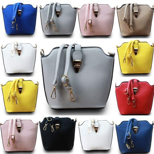 Designer Damen Schultertasche Clutch Hobo Cube Umhängetasche Leder Optik Bag  – Bild 1