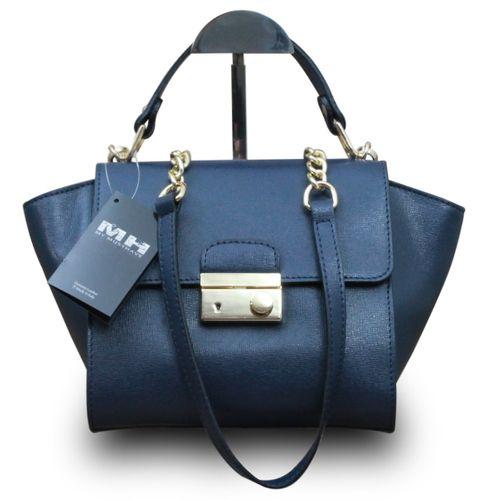 Made in Italy Vera Pelle Echt Leder Henkeltasche Handtasche Clutch  – Bild 1
