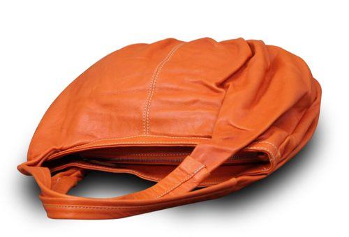 Made in Italy Damentasche Schultertasche Beuteltasche Shopper Bag Nappaleder – Bild 13