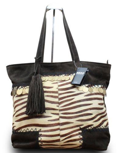 Luxus Designer Damentasche Shopper Henkeltasche Wildleder Echt Fell  – Bild 14