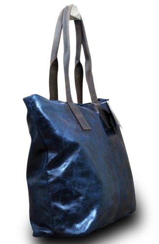 Made in Italy Luxus Damen Schultertasche Shopper Donna Bella Leder  – Bild 11