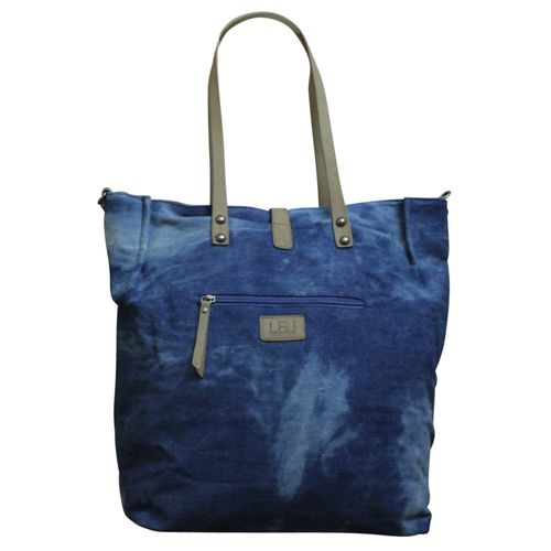 LOUIZ & LOU Shopper in Jeans Denim Schultertasche Damen -Tasche Shopper & Armband  – Bild 5