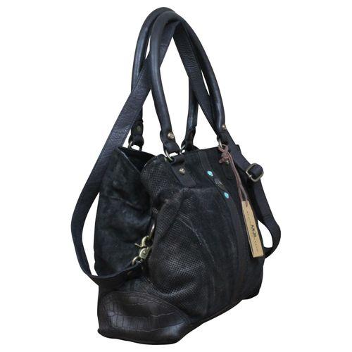 Desiderius echt Leder Vintage Shopper Schulter Tasche Leder Vintage NEW + Tuch Gratis – Bild 3