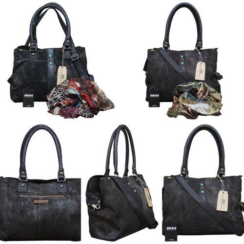 Desiderius echt Leder Vintage Shopper Schulter Tasche Leder Vintage NEW + Tuch Gratis – Bild 1