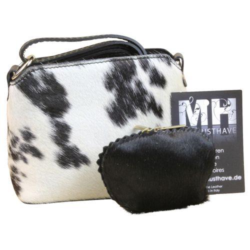 Kuhfell Fell Tasche Clutch Damentasche italienische Felltasche Geldbörse Set Shopper – Bild 11