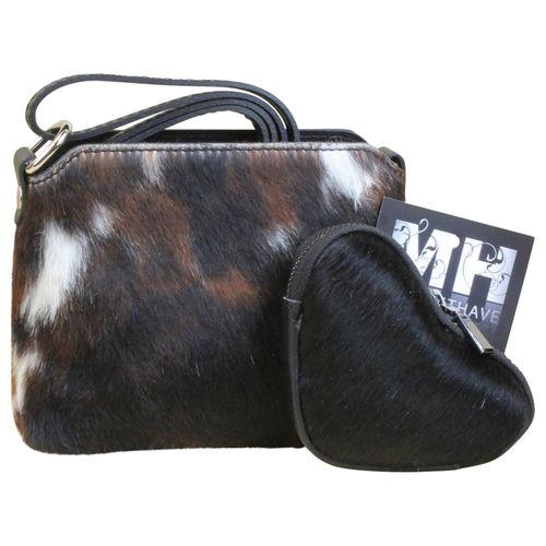 Kuhfell Fell Tasche Clutch Damentasche italienische Felltasche Geldbörse Set Shopper – Bild 18