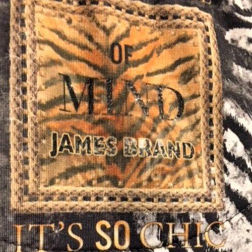 James Brand Elegantes Damen Shirt T-Shirt Longsleeves Tiger Motiv Print mit Perlen – Bild 4