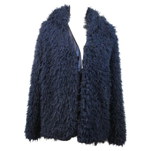 HIP Damen Kunstfell Jacke Kurzjacke Blogger in Fell Optik Faux Fur mit Kapuze – Bild 7