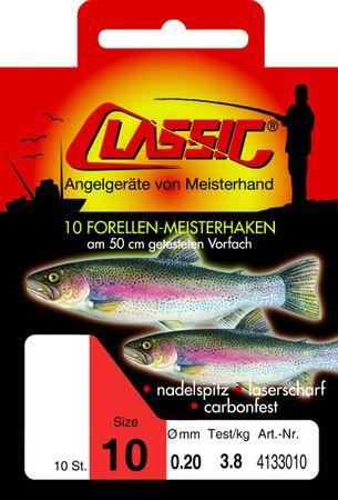 Paladin Classic 50cm Forellenhaken gebunden – Bild 1
