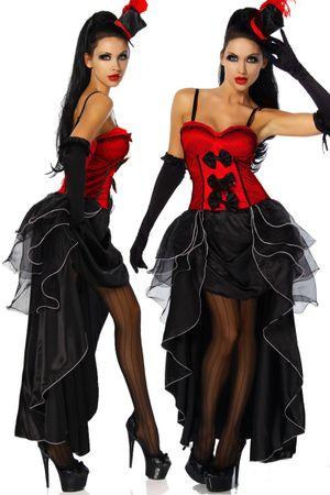 Cabarett-Kostüm rot/schwarz – Bild 1
