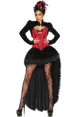 Burlesque-Kostüm schwarz/rot – Bild 3