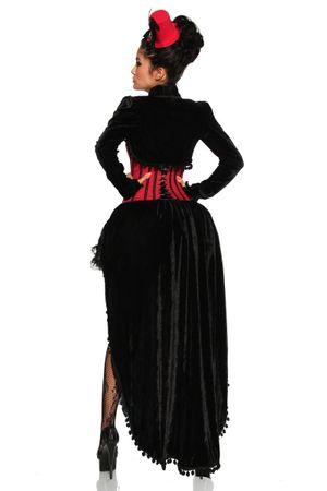 Burlesque-Kostüm schwarz/rot – Bild 4