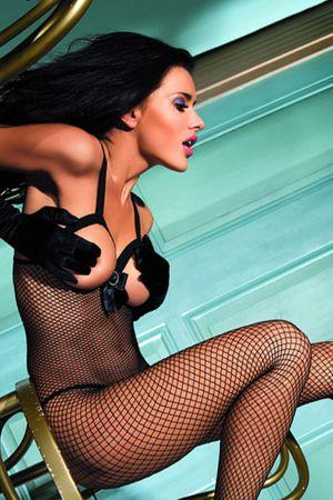 Beautys Love Bodystocking aus Netz schwarz