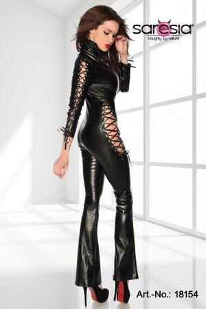 SARESIA Overall aus Lederimitat schwarz – Bild 3