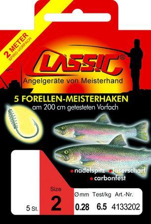 Paladin Classic 200cm Forellenhaken Teighaken gebunden – Bild 1