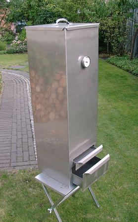 SMOKI - Aal Räucherofen 10002 mit Deckel 100x30x30 Edelstahl V2A  – Bild 1