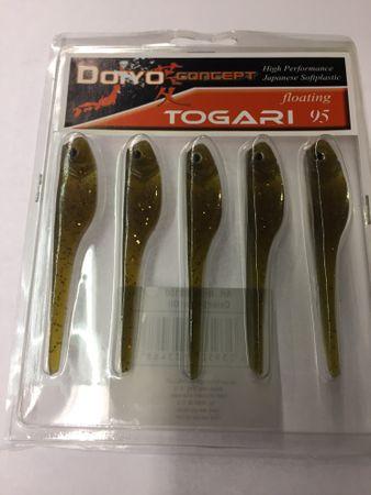 5 Stk Iron Claw Togari 9,5cm Gummifisch div. Farben – Bild 2