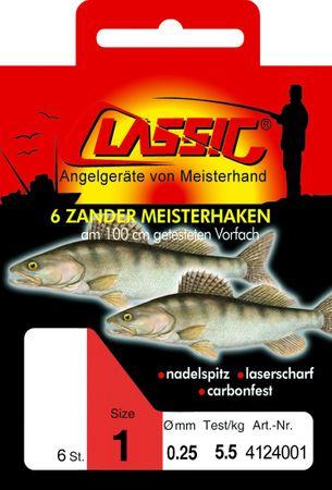 Paladin Classic Zanderhaken Boilile 50cm  Paladin Classic Allroundhaken 50cm gebunden – Bild 1