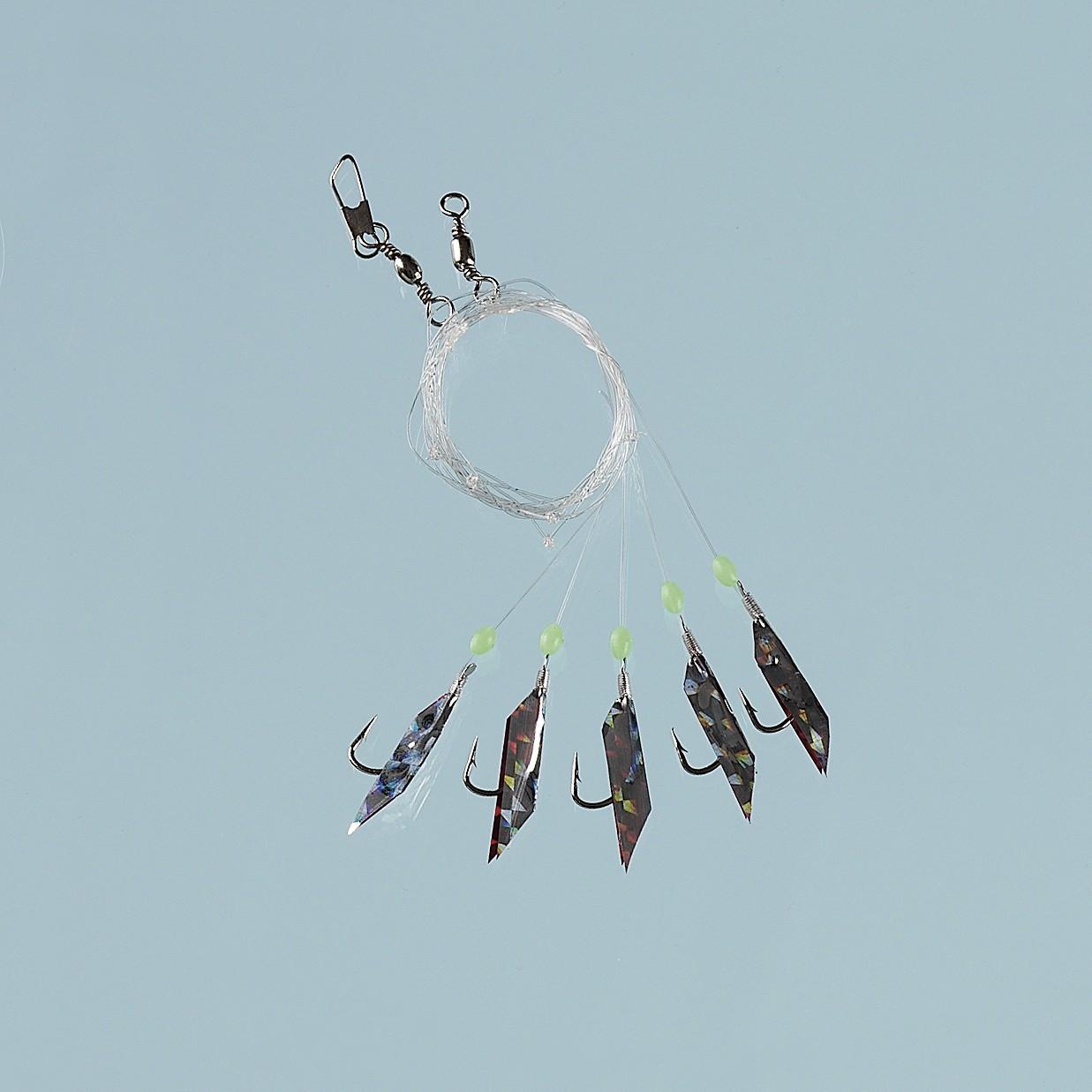 fladen-makrelen-vorfach-paternoster-red-silver-flasher-5-haken-gr-3-0