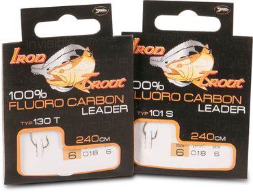 Iron Trout Fluoro Carbon Leader 101S 240cm Forellenhaken dickdrahtig – Bild 1