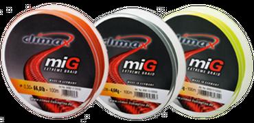 Climax miG Braid Angelschnur 135m Farbe orange