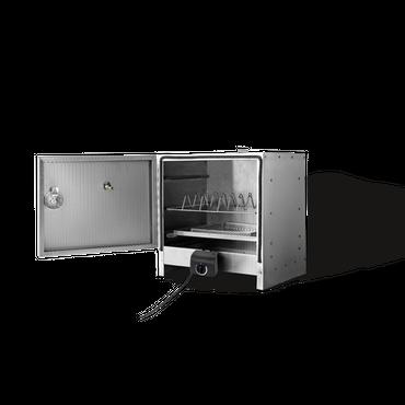 Smoki Tisch-Elektro-Räucherofen Geprägtem Edelstahl Räucherschrank  – Bild 1
